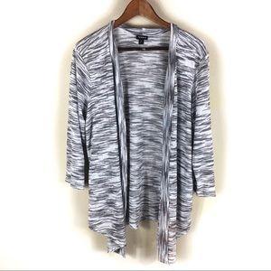 ☕️5/$25 Torrid 2 2X Grey cardigan Shrug